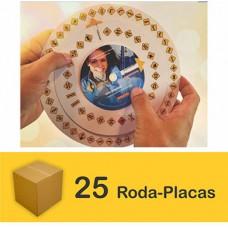 Pacote com 25 Roda Placas