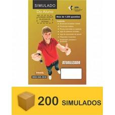 Pacote de 200 Simuladão do DETRAN - 1200 questões  (R$ 3,00 cada)