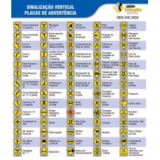Banner de Sinalização Vertical de Advertência (Placas Amarelas)